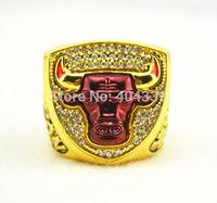 Free shipping excellent design Men ring   18K Gold Replica Basketball Team Logo Custom Championship Rings(R109664)