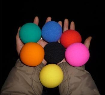 Super sponge ball (6cm) 7 color for choose,-Magic Trick,20pcs/lot,Mentalism,stage,close up magic props,card,Accessories