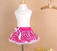2014 Fashion Free Shipping Kids Girls Clothes Dot Spot High Tutu Skirts 2-7year Spotted Tutu Bubble Skirts