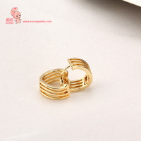 2014 Classic Western Style Crystal Embed Copper Hoop Earrings for Females ER0553