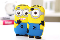 Hot Minions case for ipone4 / 4S / 5/ 5S soft rubber cartoon style cell phone cases covers