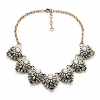 new fashion brand statement necklace for women pearl vintage necklace lenght 51cm