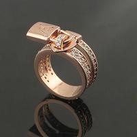 Luxury Brand V Letter Lock head pendant ring Titanium Stainless Steel 18k Rose Gold Plated Ring Men Women  Acessories-3colors