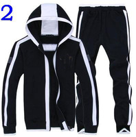2014The new hot Men Leisure Hooded fleece sports suit Men cotton jacket