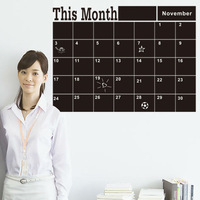 2014 Poster Decoration Freeshipping This Month Blackboard Removable Pvc Wall Sticker Monthly Chalkboard Decal Chalk Board Art