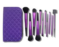 Whole aluminum multicolor makeup brush with 11 makeup brush set face brush brush to makeup free shipping HZS018