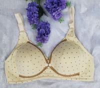 100% cotton nursing maternity bra for Women Dot breast feeding bras with Lace