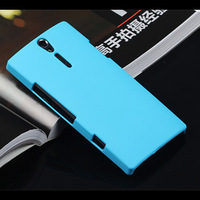 New Colorful Hard Plastic Matte Rubber Back Cover Case for Sony Xperia S LT26i 2014 New Cell Phone Cases + Flim + Touch Stylus