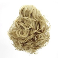 14 Colors Available One Piece Synthetic Hair Curly Claw Clip Ponytail Hair Extensions Free Shipping 1227C