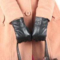 Ms sheepskin with velvet thickening warm winter warm women's fashion really pipi gloves