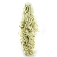 22 Different Colors Long Ponytail Synthetic Hair Extensions Curly Wavy Claw Clip Synthetic Ponytail Free Shipping BR902