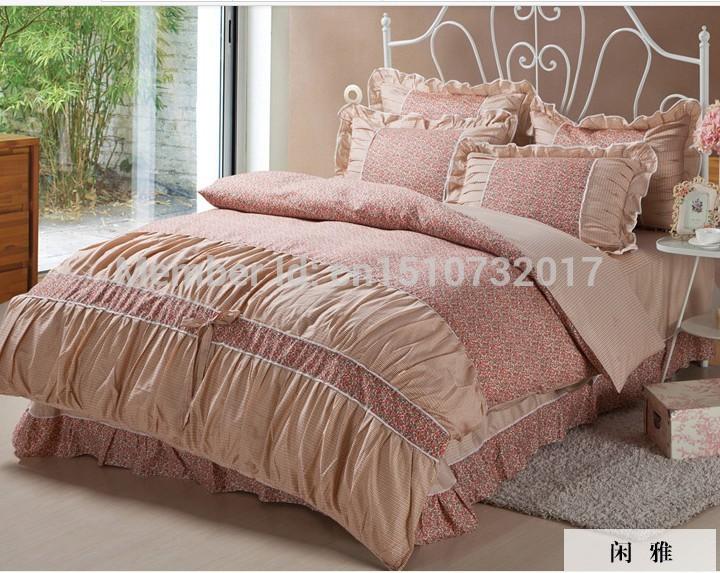 4 pcs conjuntos capa de edredão cetim de algodão luxo lençóis cama king conjunto rainha roupa de cama folha de cama conjuntos colcha jogo do comforter(China (Mainland))