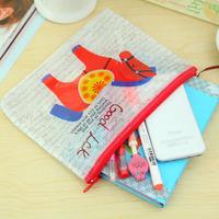 Wholesale A5 file bag mesh PVC zipper bag pouch 21*16.3cm Free shipping OF005A5