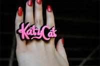 Pink Acrylic Katy Cat Fashion Women Rings