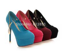 2014 new sexy high heels nightclub matte metal pendants imported singles shoes free shipping XG211
