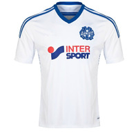 Best  Thailand   Quality   A+++  marseille Home  /    Away   2014  -15   Original  soccer  jerseys  Free Shipping