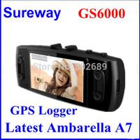 """Car DVR 3H2F GS6000 Ambarella A7 Super HD 2304 * 1296P Aptina 0330 GPS Logger G-Sensor 2.7"""" LCD 1080P30FPS Built-in 256M"""