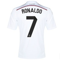 Top Thailand  Quality   Real Madrid   Home   White   2014-2015   Ronaldo  7 soccer jersey  100%  original brand   Free shipping