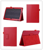 Free Shipping ! High Quality Tablet Stand Folio Flip Back Holder Litchi Leather Cover Case For Acer Aspire Switch 10.1 Red