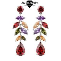 Joyme Brand 2014 Hot Sale Top Quality CZ Zircon Earrings Female dangle earring New Fashion Jewelry