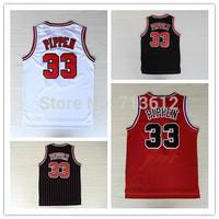 Chicago 33 Scottie Pippen Throwback Jersey, Cheap Pippen Retro Basketball Jerseys New Rev 30 Embroidery Stripe Basketball Shirt