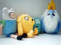 4pcs/lot Plush toys of Adventure Time Finn and Jake Ice king Penguin Plush Doll