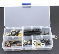 A box of Tattoo Machine Part Accessories Repair Kit  tattoo Supplies Spring Flake Armature Bar Contact Bar Spanner