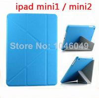Hybrid UltraThin Folio PU Leather Case Smart Flip Cover For Apple iPad Mini 1/2 with Retina Display 7.9''+Free Screen Protectors