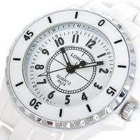 Free Shippping Top Luxury Ceramic Watch Luxury Elegant White Ceramic Water Resistant Sports Men Dress Wrist Watch