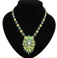 Popular colorful flower women choker statement necklaces 2014 fashion jewelry for women shourouk bubble necklace