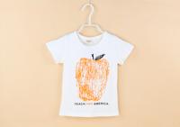 New 2014 Baby Girl Children T shirts Top Tees Kid T-shirt Short Sleeve Apple Design 100% Cotton Summer Kids wear Casual T shirt