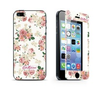 Free Shipping 1pcs  Flower Toughened protective film New Premium Tempered Glass Screen Protector for iphone5 5s