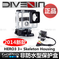 """ Original authentic "" GoPro Hero3 3 + non waterproof protective case Skeleton Housing"