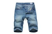 2014/7/5 Best Men's Clothing Men's Jeans Shorts GC8737 Mid-Rise Fashion Solid Straight Jeans Men