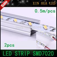 10pcs U/V STYLE   50CM DC 12V 36 SMD 7020  LED Hard Rigid LED ceiling  Strip Bar Light with Aluminium Alloy Shell free shipping