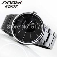 Free shipping! 2014 Brand New Luxury Mens Quartz Analog Men's Watch Black Wristwatch for Gift