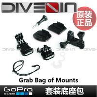 """ Original authentic "" GoPro HD Hero2/3/3 + Set the base package Grab Bag Mounts"