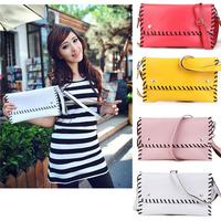 Stella 2014 New Women bag Hand knitter Vintage bag PU Leather Messenger Bags  wholesale handbags Candy color