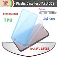 JIAYU  G5 G5S TPU plastic cases, soft matte translucent, jiayu original accessories, free shipping