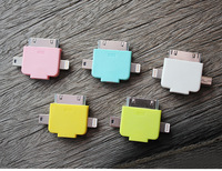 micro usb for Tub combination Adapter for samsung micro usb for iphone 4/4S/5/5S
