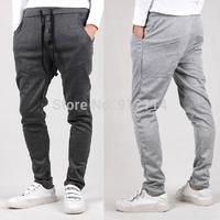 new2014  jogger pants,Three-button placket decoration harem pants,men's dance pants,low drop crotch sweatpants for men,120,28-35