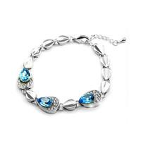 Lot 2pcs New Hot Korean Design Rhinestone Crystal Bracelet Women's Jewelry Romantic!