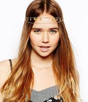New arrival 3pcs/lot New Fashion Tassel Head Band Gold Tone Headpiece Chain Hairband Headband