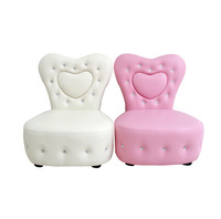 Promotion furniture crystal button sofa chair  no arms  for girls / adult