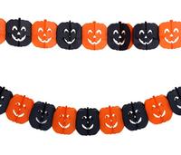 300CM/pcs Free shipping 5pcs/lot black orange paper pumpkins halloween decoration hanging garland holiday supplies