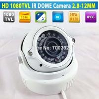 HD 1080TVL Vandalproof Security Metal IR Dome CCTV Camera 35M with Varifocal Zoom 2.8-12MM Lens + OSD MENU