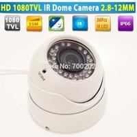 HD 1000TVL 35M Vandal proof Video Security Metal IR Dome CCTV Camera Waterproof with Varifocal 2.8-12MM Lens + OSD MENU