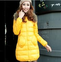 2014 New Winter Jacket Women Authentic Shawl Collar Nagymaros Slim Thin Long Down Jacket