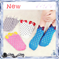 Free shipping 2014 Summer hot sale women cute cotton socks slippers boat socks 10 candy colors. (20 pieces = 10 pairs)