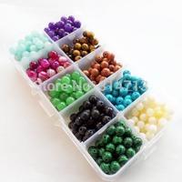 500 pcs/lot Beautiful 10 kinds Mixed Natural Stone Material Round Loose Bead 4mm  DIY
